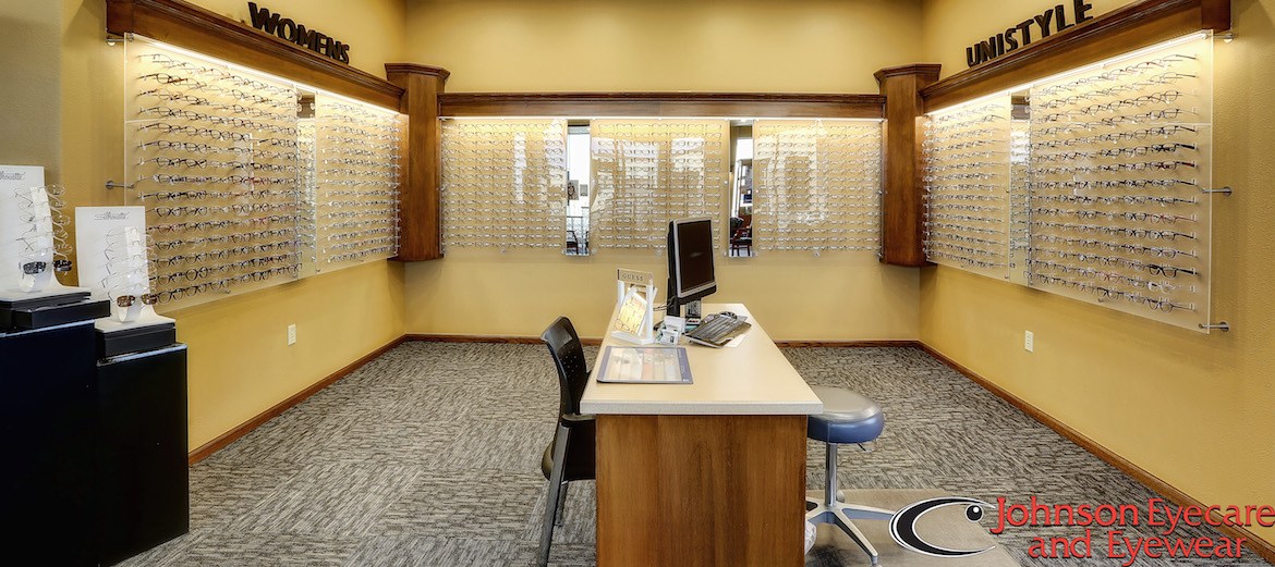 The optical shop at Johnson Eyecare & Eyewear